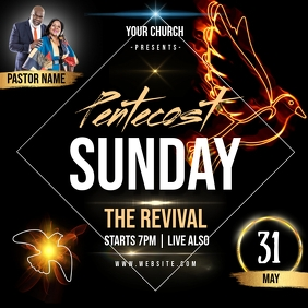 pentecost sunday AD INSTAGRAM POST Template