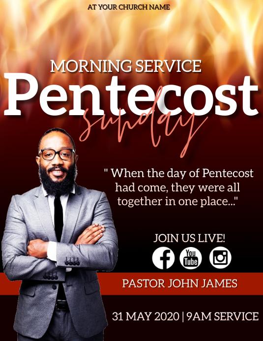 Pentecost Sunday Church Event Flyer Template