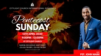 pentecost sunday church flyer Pantalla Digital (16:9) template