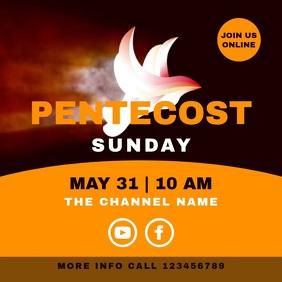 Pentecost Sunday Church Service Whitsun