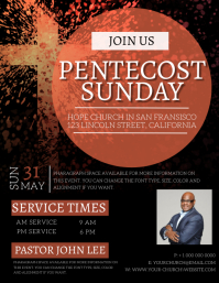 Pentecost Sunday Event Flyer Template