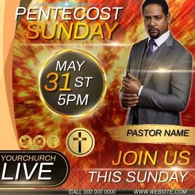 PENTECOST SUNDAY SERVICE AD TEMPLATE Message Instagram
