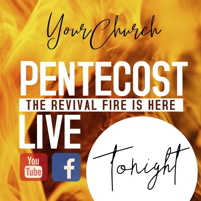 PENTECOST SUNDAY SERVICE AD TEMPLATE Instagram 帖子