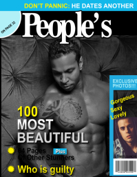 Peoples Magazine Cover Flyer (US Letter) template