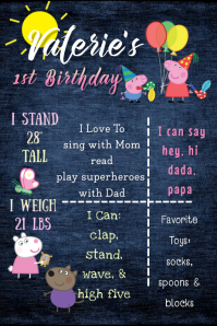 Peppa Pig Birthday Poster