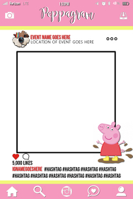 Peppa Pig Party Prop Frame