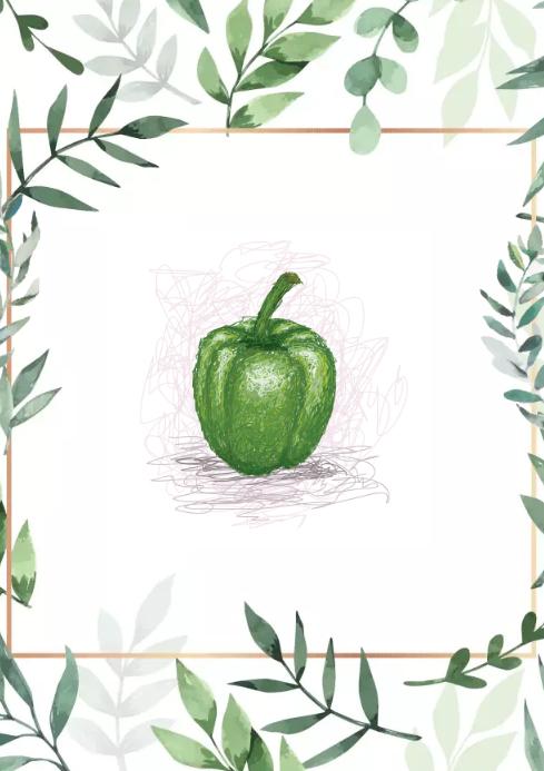 Pepper green design A2 template