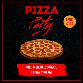 PEPPERONI PIZZA PARTY FLYER TEMPLATE