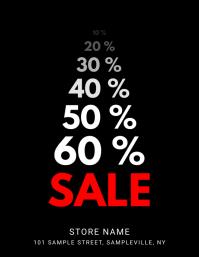 Percent Discount Sale Flyer
