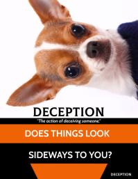Deception Рекламная листовка (US Letter) template