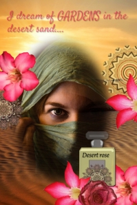 perfume ad/Arabic/desert/middle east/rose