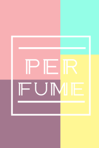 Perfume Póster template