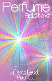 Perfume pink & rainbow lights