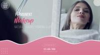 Permanent Makeup Beauty Salon Video Ad Digital Display (16:9) template