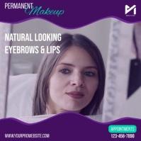 Permanent Makeup Cuadrado (1:1) template