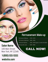 Permanent Makeup Volante (Carta US) template
