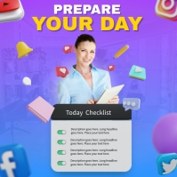 Personal Checklist Persegi (1:1) template