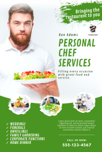 Personal Chef Catering Service Flyer Template Poster