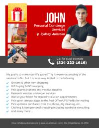 Personal concierge services flyer template Folder (US Letter)