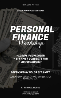 Personal Finance Workshop Flyer Design Kindle Omslag template