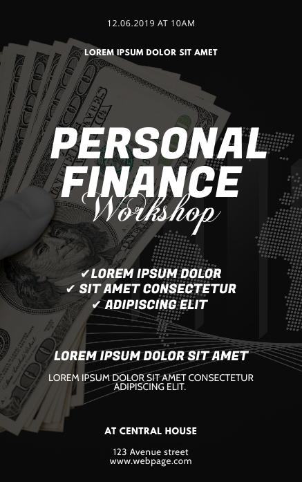 Personal Finance Workshop Flyer Design