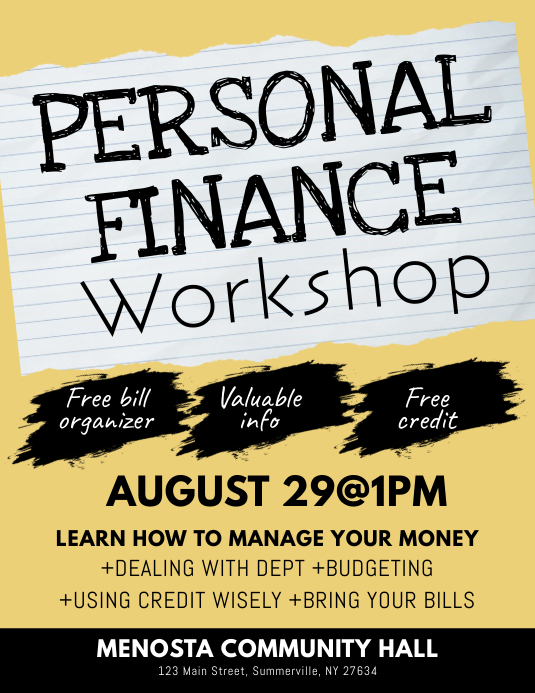 Personal Finance Workshop Flyer