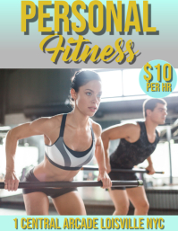personal fitness Flyer (US Letter) template