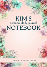 Personal Floral Notebook Cover Design