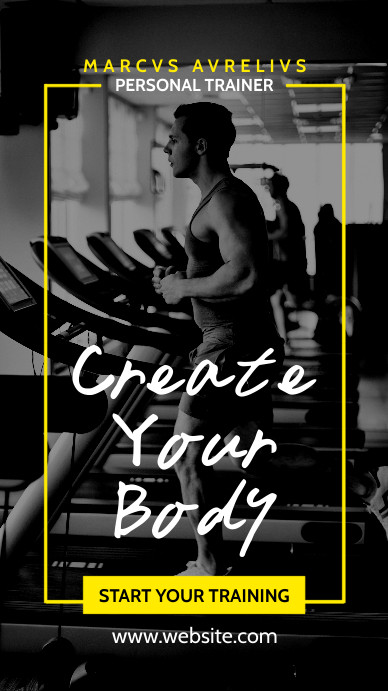 personal gym training advertisement whatsapp Instagram Story template