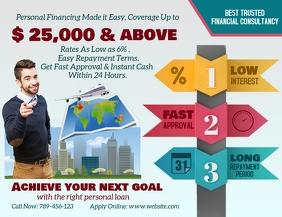 Personal Loan Flyer Design Folheto (US Letter) template
