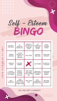 Personal Mastery Instagram Story Bingo Board template
