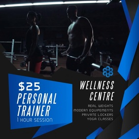 Personal Trainer Fitness Ad Video Template