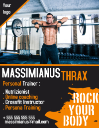 Personal trainer flyer for bodybuilding