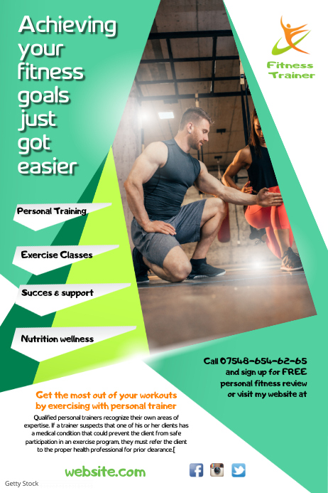 Personal Trainer Flyer Template Postermywall
