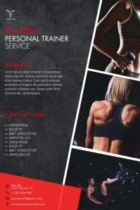 Personal Trainer Flyer Template Affiche