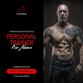 Personal Trainer Promote ad for instagram template