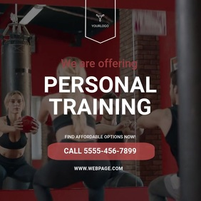 Personal Trainer Video Ad Template
