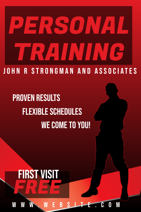 Personal Training fitness Flyer