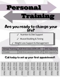 Personal Training Volante (Carta US) template