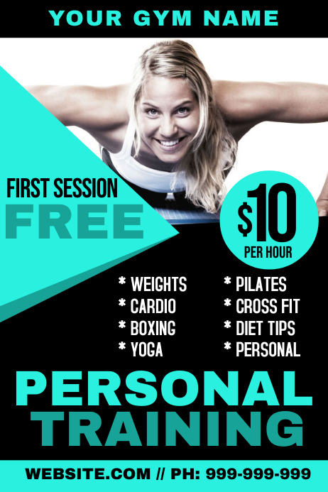 Personal Training Poster template