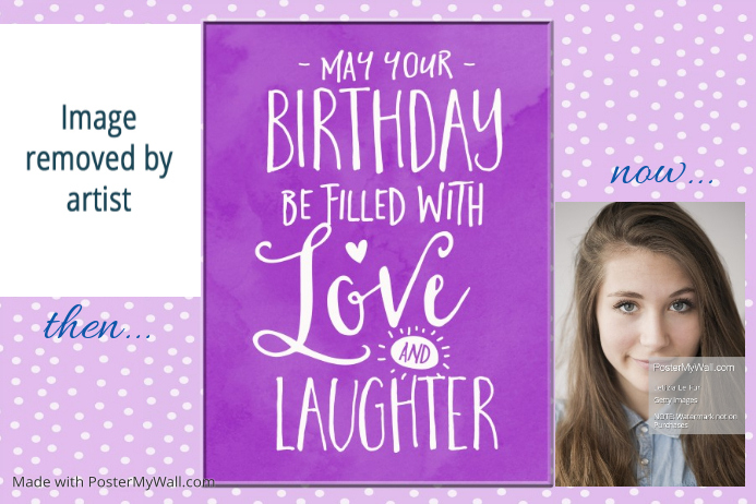 Personalized Birthday Poster Party Flyer Gift Best Friends