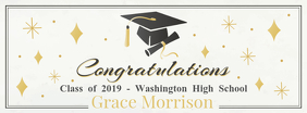 Personalized Congratulations for Grad Banner