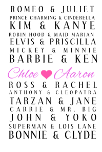 Personalized Couples Poster