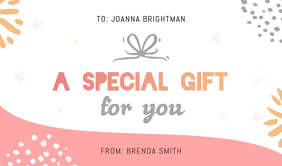 Personalized Gift Tag template