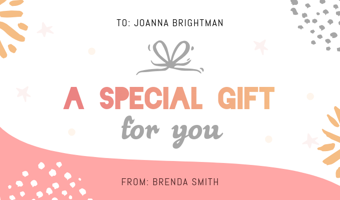 Personalized Gift Tag Etiqueta template