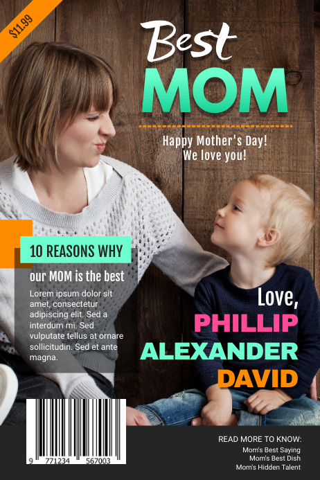 Personalized Mother's Day Wish Magazine Cover