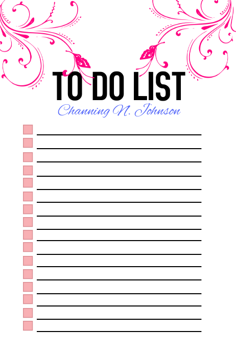Personalized To Do Check List Poster template