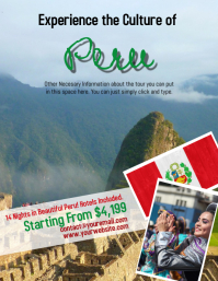 Peru Tour Travel Flyer Template