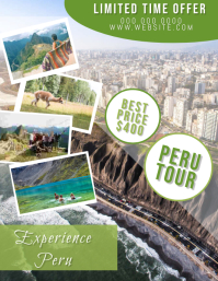 Peru Travel Flyer Template