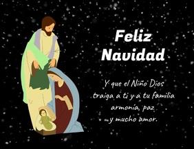 Pesebre de Navidad con Jesus Maria y José